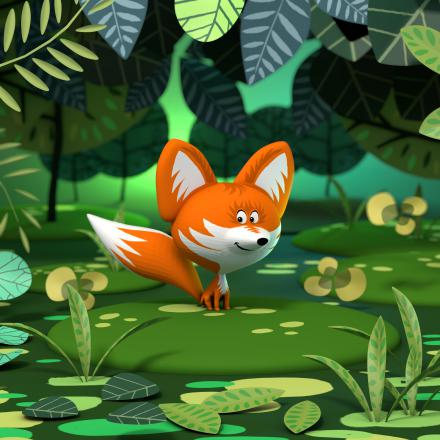 illustration 3d 3d illustration fox